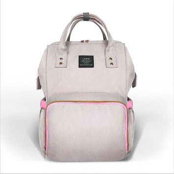 Fashion Mummy Maternity Nappy Bag Brand Large Capacity Baby Bag Travel Backpack Desinger Nursing Bag for Baby Care/