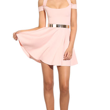 Party dresses > PASTEL PRINCESS DRESS - pastel pink party dress featuring an a-line style, double strap detail, cross-over back