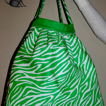 Green Zebra PrintAdorable Large by KraftyKreations4You on Etsy