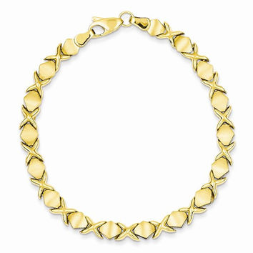 14k Yellow Gold Fancy Stampato Bracelet
