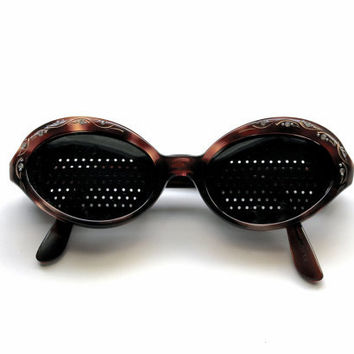 Shades - Vintage Mid Century French Sunglasses - Imperial Frames - Rhinestones - Collectible