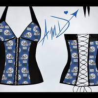 Sexy custom made NFL Indianapolis Colts halter by flowerpixie8