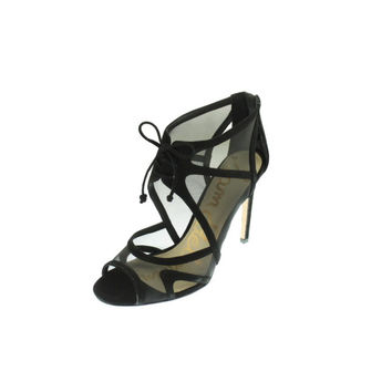 Sam Edelman Womens Pompei Suede Cut-Out Peep-Toe Heels