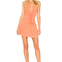 by the way. Liliana Tie Front Dress in Tangerine | REVOLVE