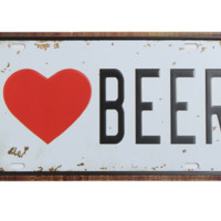 Vintage Beer PlateTin Sign  Metal Plaque Poster Bar Pub Home Wall Decor