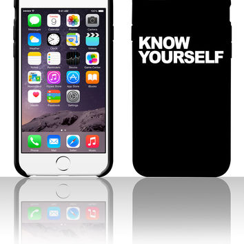 Know Yourself 5 5s 6 6plus phone cases