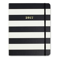 2017 - 17 Month Large Agenda in Black Stripe by Kate Spade New York - FINAL SALE
