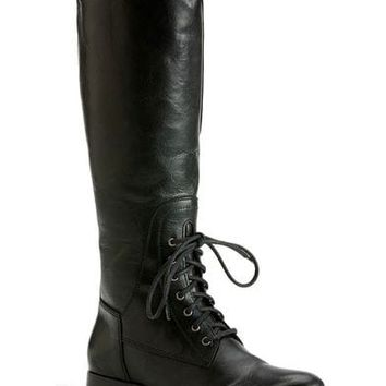 Frye Women's Melissa Lace-up Riding Boots - Round Toe