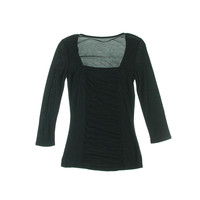 INC Womens Petites Gathered 3/4 Sleeves Pullover Top