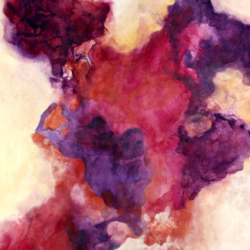Original Fluid Acrylic Ink Abstract Painting by Amanda Baker