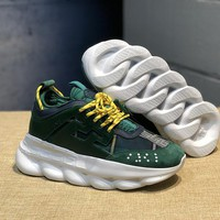 KUYOU V004 Versace Fashion Breathable Height Increasing Shoes Green