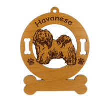 3345 Havanese Standing Ornament Personalized with Your Dog's Name