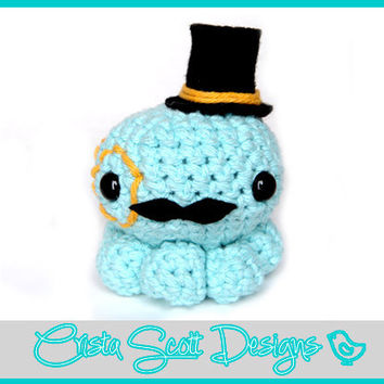 Crochet Octopus With A Mustache And Monacle