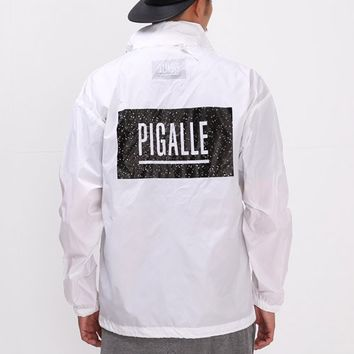Mens XQUARE Pigalle Box Logo Windbreaker Jacket at Fabrixquare