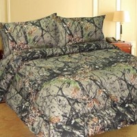 Woodland Camo 7 Piece Comforter,sheet, and Pillowcase Set - Queen -