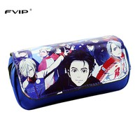 FVIP Cosmetic Makeup Pencil Pen Case Bag Yuri On Ice/ Undertale/ Sword Art Online/ HellSing Long Purse Bag