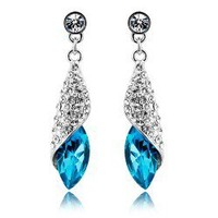Miss Sea Crystal  Earrings&Stud