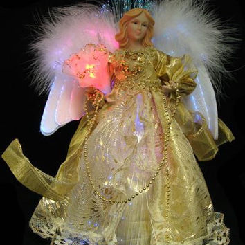 Christmas Decoration - Angel With Bouquet