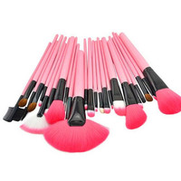 Top Quality Pink 24pcs Makeup Brushes Set Professional Cosmetic Tool Beauty Womens Gift