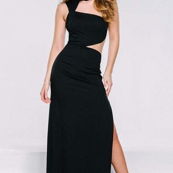Jovani - 39207 Long Fitted Cut-Out Detailed Evening Dress