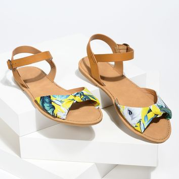 Bow Tie Yellow Multi Sandals