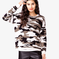 Boxy Camo Sweater • Hipster.Co