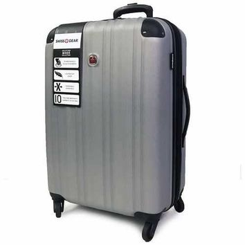 Swissgear Minor Collection 24 Inch Expandable Spinner Luggage Case - Silver