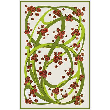 Art Nouveau Vines and Roses By Talwin Morris  Arts and Crafts Style Counted Cross Stitch Pattern