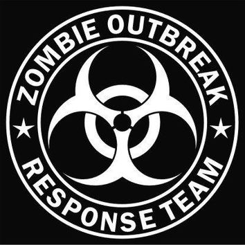 Zombie Outbreak Response Team Vinyl Decal Sticker|Cars Trucks Vans Walls Laptop|WHITE|5.5 In|