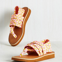 All Isles and Cheers Sandal in Bananas | Mod Retro Vintage Sandals | ModCloth.com