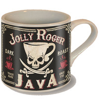 """Jolly Roger Java"" Coffee Mug by Trixie & Milo"
