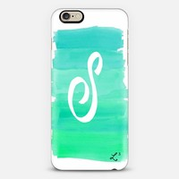 Brushstroke Custom Initial S Green iPhone 6 case by Love Lunch Liftoff | Casetify