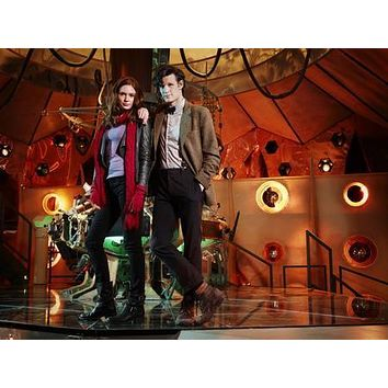 Matt Smith Karen Gillan Dr. Who Tardis #1 poster Metal Sign Wall Art 8in x 12in