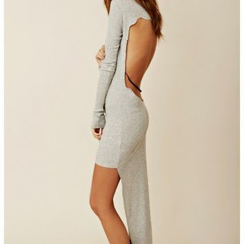 Blue Life - Hi-Low Dress With Edgy Cutout