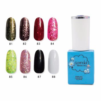Flower Angle Serie Sequins 24 Color Nail Polish UV Gel Soak Off Glitter UV Gel Varnish Lacquer Opal Jelly Gel Reinforcemen Gel