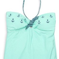 Sperry Top-Sider Anchors Bandeau Tankini Top Blue, Size M  Women's