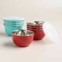Stainless Steel Mixing Bowls with Lids, Set of 2