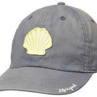 Life is good Beach Wash Tattered Chill Seashell Cap, Smoky Gray, One Size
