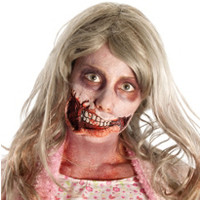 Walking Dead Girl Mouth Prosthetic Makeup Kit- Party City