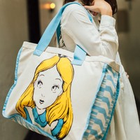 Disney Alice in Wonderland Large Canvas Tote Bag