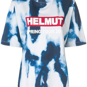 Tie Dye Blue T-Shirt by Helmut Lang