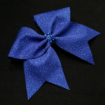 Cheer bow, Blue cheer bow, glitter cheer bow,cheerleading bow, cheerleader bow, softball bow, pop warner cheer bow, dance bow, Cheerbow