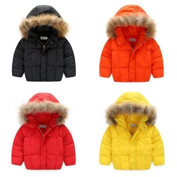 Kids Baby Girls Boys Warm Hooded down Coat Puffer Jacket Snowsuit Padded Outwear
