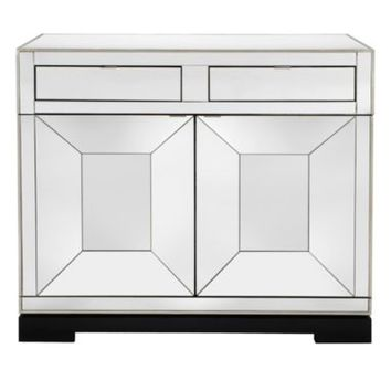 Tangent Mirrored Bar Cabinet | Bar Carts | Dining Room Furniture | Furniture | Z Gallerie