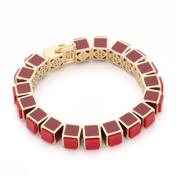 Inlaid Small Cube Bracelet
