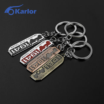 Car Styling Metal Chaveiros 1941 Emblem Key ring Chain Keychain For Jeep Wrangler Grand Cherokee Renegade Compass Accessories