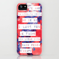 I Love You in Different Languages iPhone Case by Caleb Troy | Society6