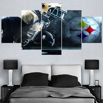 Sport Poster Paintings Pittsburgh Steeler Modern Home Decor Living Room Bedroom Wall Art Canvas Print Painting Calligraphy