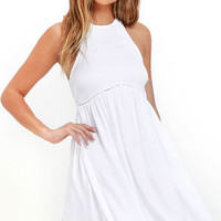 Element Eden Terry Ivory Dress