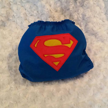 Superman All In One (AIO) Cloth Diaper - One-Size or Newborn, S, M, L